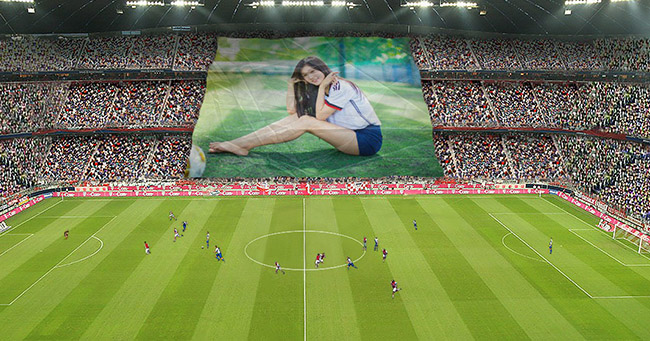 Create your image on the football field
