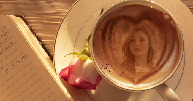 Create your picture in the cup of coffee