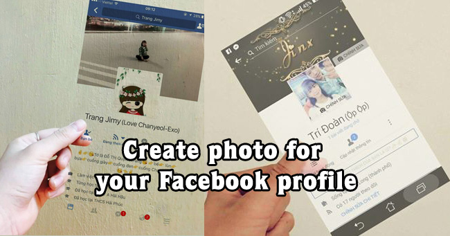 Create photo for your Facebook profile
